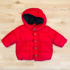 Red Baby Gap Puffer Coat